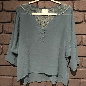 Pins & Needles 3/4 sleeve lace blouse Large